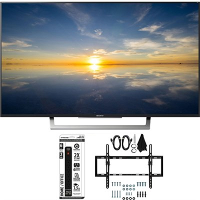 XBR-43X800D - 43` Class 4K HDR Ultra HD TV w/ Tilt Wall Mount Bundle