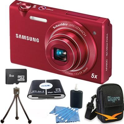 MV800 16.1 MP 3.0` MultiView Red Camera 8GB Bundle