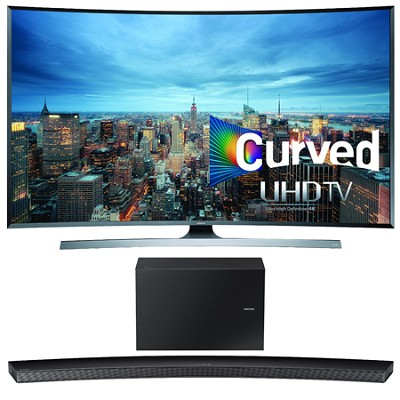 UN78JU7500 - 78-Inch 2160p 3D Curved 4K UHD Smart TV w/ HW-J8500 Soundbar Bundle