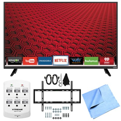 E48-C2 - 48-Inch E-Series 120Hz 1080p Smart LED HDTV Plus Mount & Hook-Up Bundle
