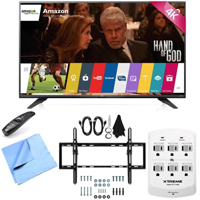 43UF7600 - 43-Inch 2160p 120Hz 4K UHD LED TV w/ WebOS Tilt Mount/Hook-Up Bundle