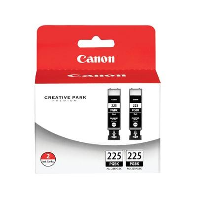 PGI-225 Black Twin Pack Value Pack for PIXMA MG5120, MG5220, iP4820 Printers