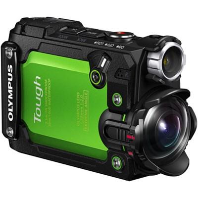 Stylus TG-Tracker 4K Action Cam Waterproof/Shockproof/Freezeproof Grn - OPEN BOX