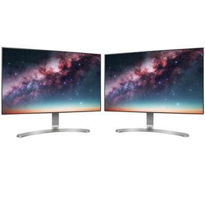 24` Screen LED-Lit Dual Monitor Workspace Bundle