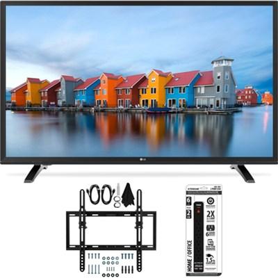 43LH5000 43-Inch Full HD 1080p LED TV Flat + Tilt Wall Mount Bundle