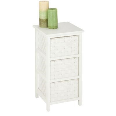3Drawer Storage Table White