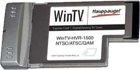 WinTV HVR-1500 Notebook Express Card HDTV Tuner/Video Recorder Media Center 1193