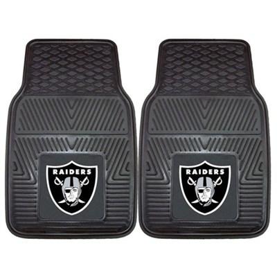 NFL Oakland Raiders Vinyl Heavy Duty Car Mat - Set of Two