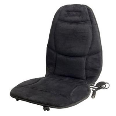 Soft Velour Heated Seat Cushion in Black - 9438