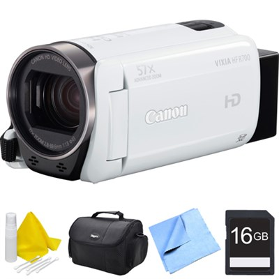 VIXIA HF R700 Full HD Black Camcorder Bundle - White