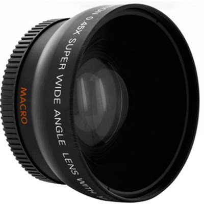 Pro .45X Wide Angle Lens w/ Macro 37mm threading (Black)