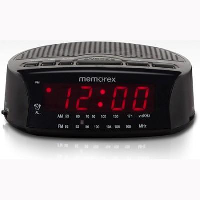 AM/FM Radio Alarm Clock (Black) (MC0509BK)