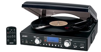 JTA-460 3-Speed Stereo Turntable with MP3 Encoding System and AM/FM Stereo Radio