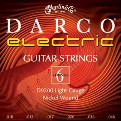 D9200 Electric Rock Nickel Wound Strings - Light Gauge: 10-46