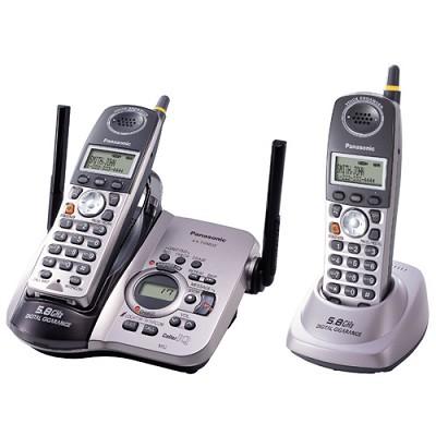 KX-TG5632M 5.8 GHz FHSS GigaRange Dual-Handset Phone System w/ Answering System