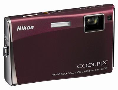 Coolpix S60 Digital Camera (Burgundy)