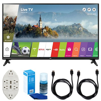 LJ550B Series 32` Class Smart LED HDTV (2017 Model) w/ Accessories Bundle