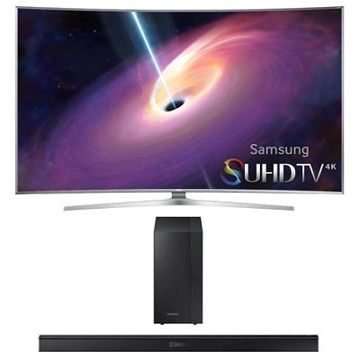 UN48JS9000 - Curved 48-Inch 2160p 3D Smart 4K UHD LED TV HW-J450 Soundbar Bundle