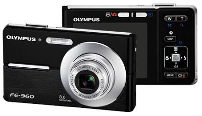 FE-360 8MP Digital Camera (Black)