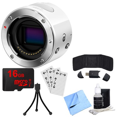 Air A01 16MP Interchangeable Lens Smartphone Camera Body (White) with Bundle