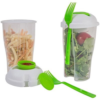 Food-To-Go Travel Shaker Cups For Lunch & Salads (Set of Two) SC10204