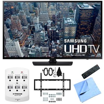UN48JU6400 - 48-Inch 4K Ultra HD Smart LED HDTV Slim Flat Wall Mount Bundle
