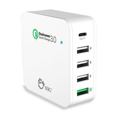 5Port Smart USB Charger Wht