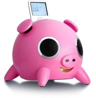Amethyst A1-BT 2.1 Pig Speaker System - 6.5 W RMS - Wireless Speaker(s) - Pink