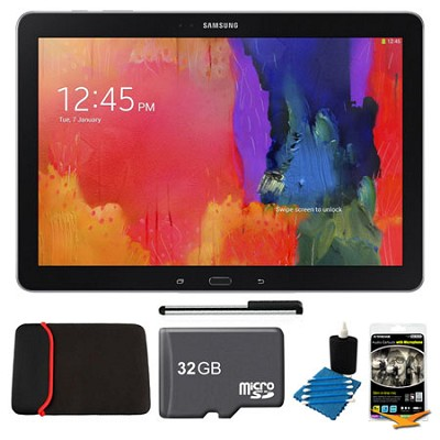Galaxy Note Pro 12.2` Black 32GB Tablet, 32GB Card, Headphones, and Case Bundle