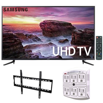 58` Smart MU6100 Series LED 4K UHD TV w/ Wi-Fi + Wall Mount Bundle