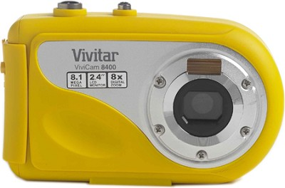 Vivicam V8400 Underwater Digital Camera - 8MP 2.4` Touchscreen, 8x Zoom (Yellow)