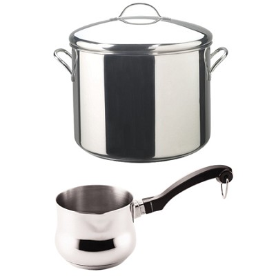16-Quart Stainless Steel Covered Stockpot 5/8-Quart Butter Warmer Bundle