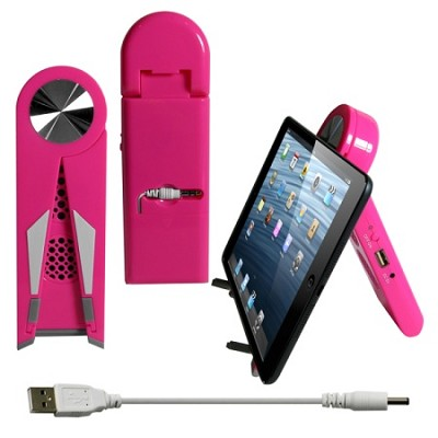 Stand Speaker for Tablets & Smartphones in Pink