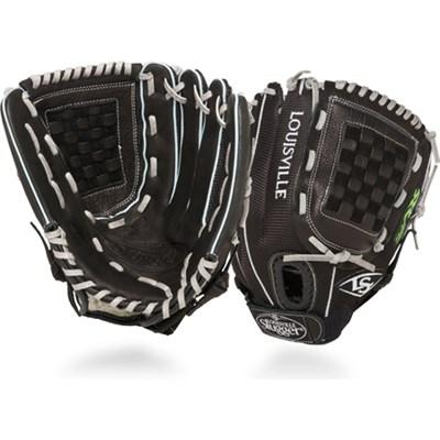 12 Inch FG Zephyr Softball Infielders Glove Left Hand Throw - Black - OPEN BOX