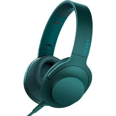 MDR100AAP h.Ear on Premium Hi-Res On-Ear Stereo Headphones - Viridian Blue