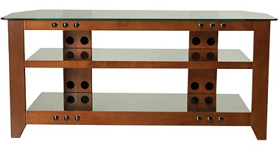 NFV249 - Natural Three Shelf A/V Stand for TVs up to 52` (Cherry Finish)