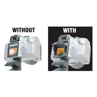 Snap-on Pop-up Shade & Protective Cover for Canon EOS 20D LCD