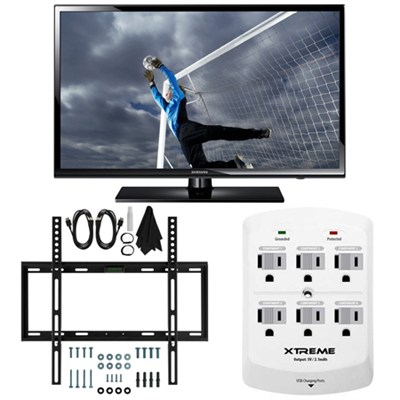 UN40H5003 - 40-Inch Full 1080p HD 60Hz LED TV Slim Flat Wall Mount Bundle