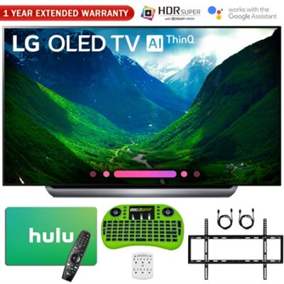 77 Class C8 OLED 4K HDR AI Smart TV (2018) + $200 Hulu Gift Card Bundle