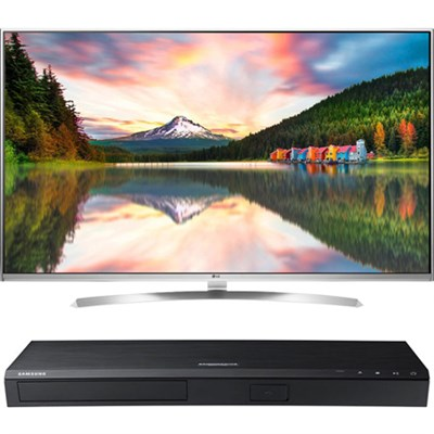 55-Inch Super UHD Smart TV w/webOS 3.0+ Samsung UBD-M8500 4K UHD Blu-Ray Player