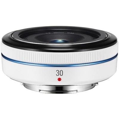 30mm  f/2.0 NX Pancake lens for NX Series Cameras - White