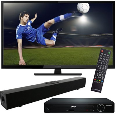 40` 1080p 60Hz LED HDTV with HDMI DVD Player and Bluetooth Sound Bar