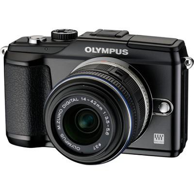 PEN E-PL2 12.3 MP 3-inch LCD Digital Camera  With 14-42 Lens Kit- Black REFURB.