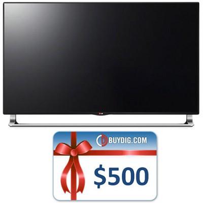65-Inch 240Hz 3D Nano-Full LED 4K UHDTV SmartTV (65LA9700) Bundle