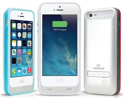 Apple Certified 2400mAh Power Case/Kickstand Apple iPhone 5/5s - Wht - OPEN BOX