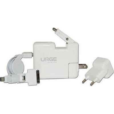 International Dual USB Home & Car Charger with 2800mAh PowerBank