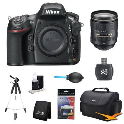 D800E 36.3 MP CMOS FX-Format Digital SLR Camera Body 24-120mm Lens Kit