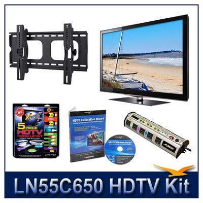 LN55C650 - 55` HDTV + Tilt Mount + Hook-Up + Power Protection + Calibration DVD