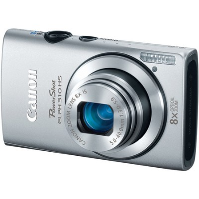 PowerShot ELPH 310 HS 12MP Silver Digital Camera w/ 8x Zoom, 1080p Video