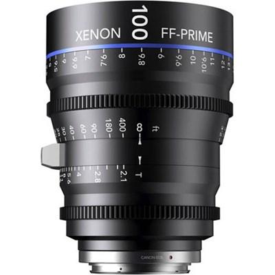 100MM Xenon Full Frame 4K Prime XN 2.1 / 100 Feet Lens for Canon EOS Mounts